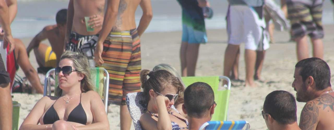 20 de outubro -  Praias ficaram cheias em Santa Catarina