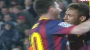 Veja os gols de Neymar e Messi na vitória do Barcelona sobre o Celta Video: