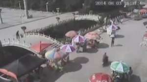 Câmeras registram o momento em que terremoto sacode a China Video: