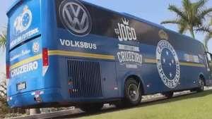 Cruzeiro divulga imagens do novo ônibus do clube Video:
