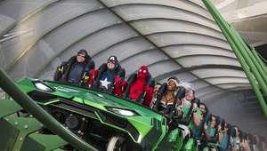 Montanha-russa do Incrível Hulk é reinaugurada em Orlando