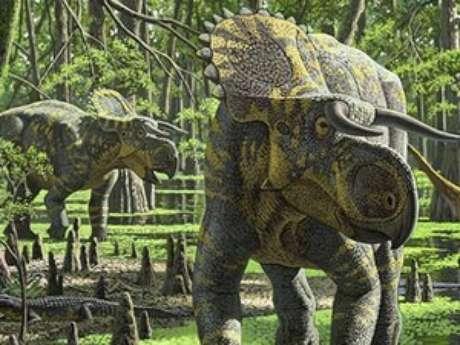 Novo dinossauro tinha aparência forte e assustadora, mas era herbívoro, diz estudo Foto: Raúl Martín / Divulgação