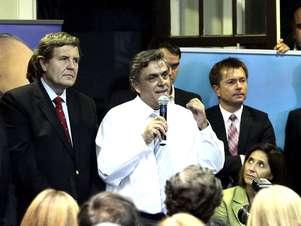 Pablo Longueira al anunciar su candidatura. Foto: AGENCIA UNO