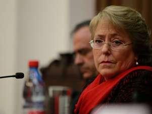 Candidata de la Nueva Mayoría, Michelle Bachelet. Foto: Agencia Uno