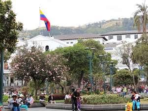 Praça da Independência, no centro histórico de Quito Foto: Juliana Rigotti / Terra