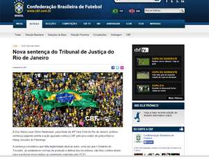 CBF comemorou vitória concedida em ação no Rio de Janeiro Foto: Reprodução