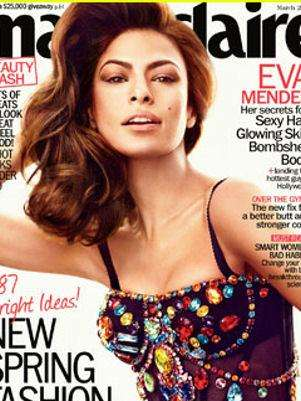 Eva Mendes. Foto: Marie Claire