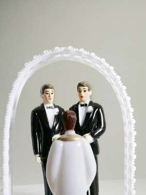Still-life of grooms getting married. Foto: Thinkstock