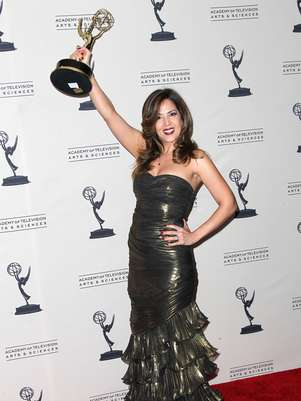 """Wizards of Waverly Place"" actress, Maria Canals-Barrera, poses in the press room at the 2011-2012 Creative Arts Primetime Emmy Awards. Foto: Getty Images"
