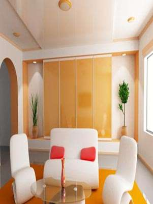 Salón con tapete color tangerine Foto: Thinkstockphotos