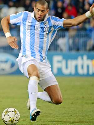 Oguchi Onyewu scored in injury time to earn a draw for Malaga in the Cope del Rey. Foto: Icon SMI