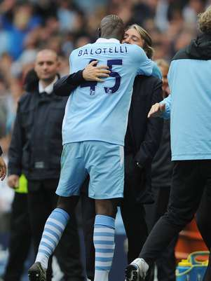 Mancini and Balotelli had a love/hate relationship at Manchester City.  Foto: Getty