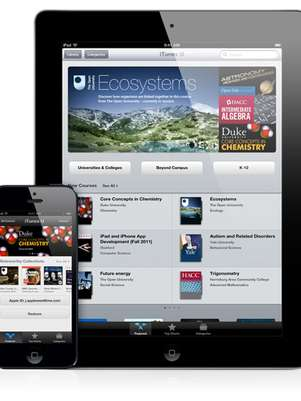 Además de los miles de materiales didácticos para aprendizaje individual de iTunes U, más de 75,000 aplicaciones educacionales están ahora disponibles para dispositivos iOS en la App Store. Foto: Apple / Reproducción