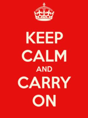 """El eslogan """"Keep calm and carry on"""" fue diseñado por el Ministerio de Información británico en 1939 Foto: Divulgación"""