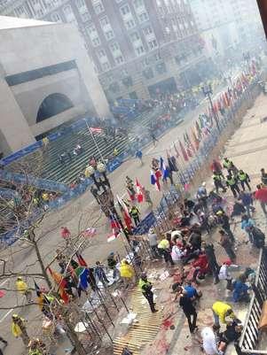 Imágenes de los daños que causaron las bombas en Boston Foto: Divulgación Twiter