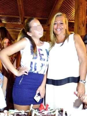 de seguidores de Twitter en el 14 cumpleaños de su hija Andrea