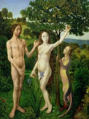 Adán y Eva en obra de Hugo van der Goes / Museo Kunsthistorisches en Viena, Austria. Foto: Getty Images