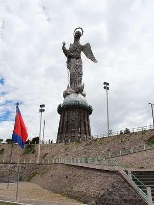 Feita de alumínio,Virgen Alada de Quito tem 45 m Foto: Juliana Rigotti / Terra