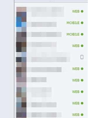Mudança no chat mostra de que dispositivo o usuário está conectado Foto: Reprodução