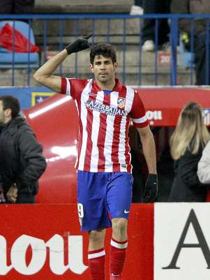 Diego Costa voltou a se destacar em vitória do Atlético de Madrid Foto: EFE