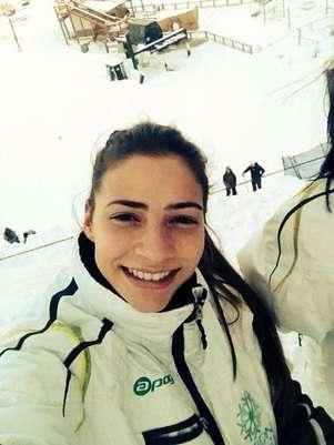 Laís Souza estava próxima de conseguir uma classificação para os Jogos Olímpicos de Inverno, em Sochi, quando sofreu o acidente nos EUA Foto: Facebook / Reprodução
