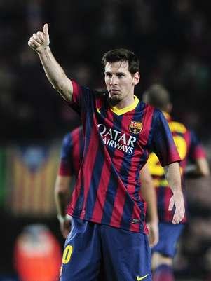 Messi se tornou o terceiromaior artilheiro da história do Espanhol, superando Di Stéfano Foto: AFP