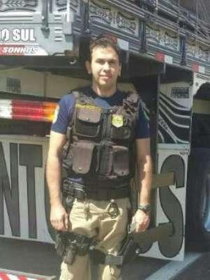 Policial rodoviário César Malta da Gama Cruz, 45 anos, morreu atropelado durante o trabalho em frente ao posto da PRF no km 9 da Fernão Dias, em Vargem (SP) Foto: PRF / Divulgação