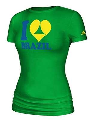 Camiseta da Adidas para a Copa no Brasiltem duplo sentido e conteúdo sexual Foto: Adidas / Reprodução