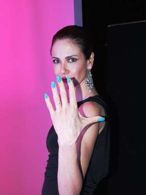A cor turquesa, preferida da apresentadora, recebeu o nome de Nova York, local número um segundo ela Foto: Capítulo Hum / Divulgação