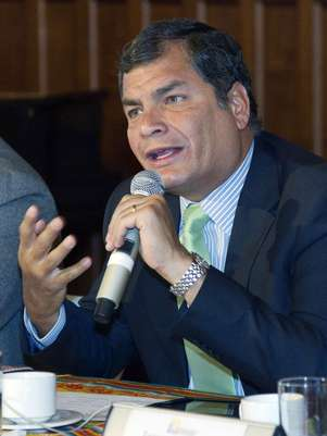 Rafael Correa tenta a reeleição após seis anos de governo Foto: Reuters