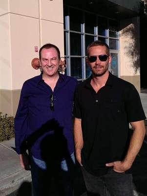 Bill Townsend e Paul Walker horas antes do acidente Foto: Facebook / Reprodução