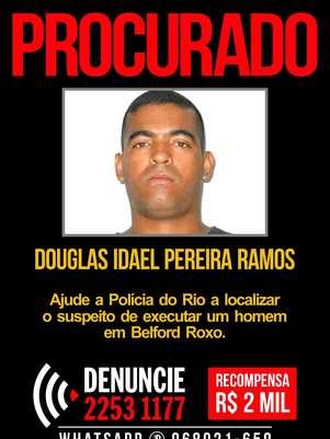 Douglas Idael Pereira Ramos é apontado como o autor do disparo que matou o jovem Igor Falcão Foto: Polícia Civil do Rio de Janeiro / Reprodução