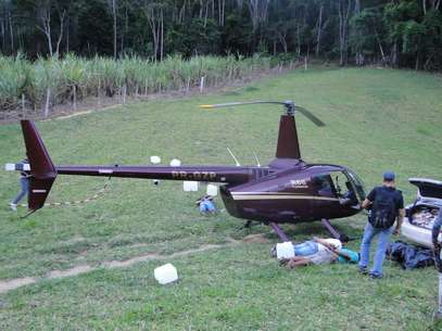 Helicóptero que pertence à empresa do deputado mineiro Gustavo Perrella foi apreendido com mais de 400 quilos de cocaína no Espírito Santo Foto: Polícia Militar do ES / Divulgação