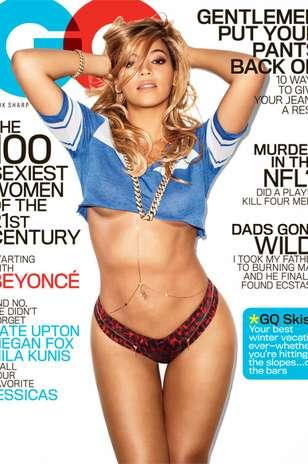 Eleita recentemente pela revista masculina  GQ como a mulher mais sexy do mundo Beyonce realmente encanta com suas lindas curvas morenas .