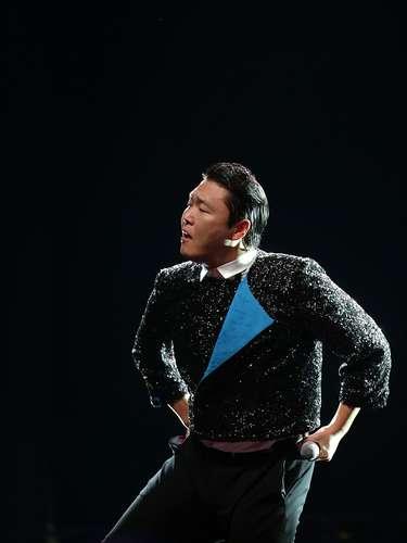 A apresentação de Psy teve cerca de uma hora de duração