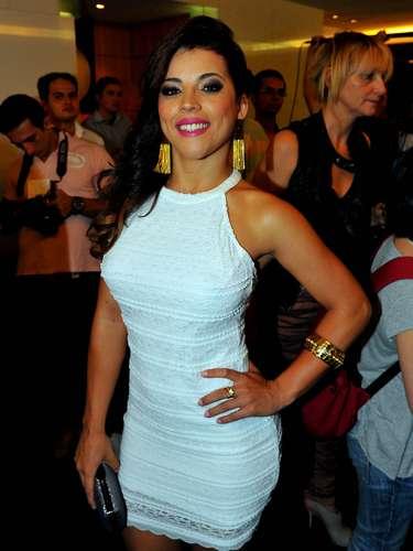Rosana Ferreira, vencedora do primeiro Miss Bumbum, em 2011, marcou presença na final do concurso deste ano