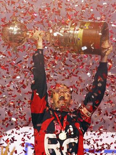 Campeão da Copa Libertadores (2005) Rogério não foi só o capitão e destaque do time do São Paulo que venceu a Libertadores em 2005, mas também o artilheiro do time com cinco gols, ao lado de Luizão. Foi seu ano mais goleador (21 gols na temporada)
