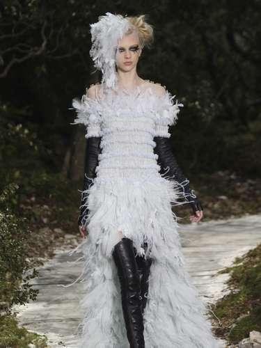 De acordo com as agências de notícias ABC e The Miami Herald, o estilista Karl Lagerfeld usou a moda para protestar contra a lei francesa em relação ao casamento gay