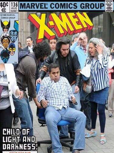 Aqui, na capa do próximo número dos quadrinhos dos X-Men