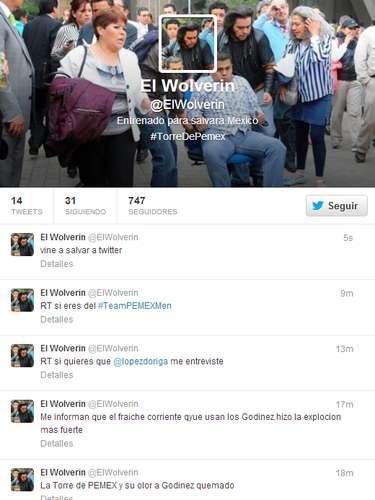 A conta @ElWolverin já está ativa, enviando mensagens aos seguidores
