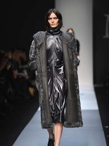 A marca levou à passarela muitos casacos pesados
