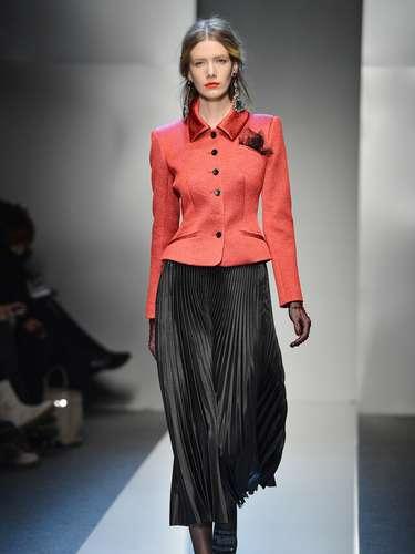 A grifeRoccobaracco desfilousua coleção de outono-inverno no terceiro dia da semana de moda de Milão