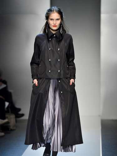 Os casacos longos também apareceram na passarela daRoccobaracco