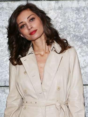 A modelo e atriz italiana Margareth Madè também prestigiou a apresentação da Emporio Armani