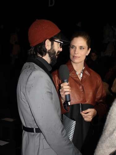 Na semana da moda tem ex-modelo que vira repórter