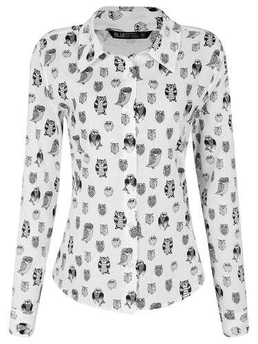 Camisa em chiffon com estampa de corujas, da Renner. Preço: R$ 79,90. Informações: (11) 2165-2800