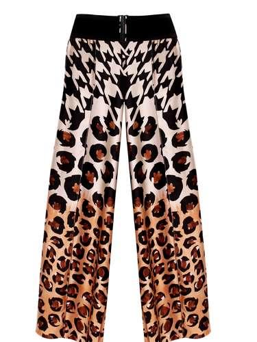 Pantalona estampada Cholet, R$ 571,90, Tel. 11 3045-7040