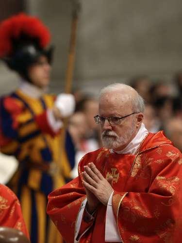 12 de março -Sean Patrick O'Malley, cardeal americano, participou da última celebração aberta ao público antes do início do Conclave que elegerá o novo papa
