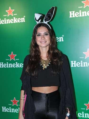 Famosos compareceram ao último dia de Lollapalooza, no Jockey Club de São Paulo, neste domingo (31). Na foto, Thaila Ayala