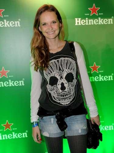 Famosos compareceram ao último dia de Lollapalooza, no Jockey Club de São Paulo, neste domingo (31). Na foto, Fernanda Rodrigues